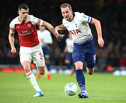 December 19, 2018 - London, England, United Kingdom - London, UK, 19 December, 2018.Tottenham Hotspur's Harry Kane under pressure from Granit Xhaka of Arsenal.during Carabao Cup Quarter - Final between Arsenal and Tottenham Hotspur  at Emirates stadium , London, England on 19 Dec 2018. (Credit Image: © Action Foto Sport/NurPhoto via ZUMA Press)