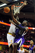 Oct. 30, 2010; Cleveland, OH, USA; Sacramento Kings point guard Tyreke Evans (13) is fouled by Cleveland Cavaliers power forward J.J. Hickson (21) during the second quarter at Quicken Loans Arena. Mandatory Credit: Jason Miller-US PRESSWIRE