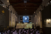 Thai school children visit the Bangkok National Museum to hear about the life and achievements of the late Thai King.<br /> <br /> The area around the Royal Palace in Bangkok is busy in preparation for the Royal Cremation Ceremony that will take place between 25-29 October 2017. It will be the final tribute and farewell to the revered His Majesty King Bhumibol Adulyadej (Rama IX) who died on the 13 October 2016 aged 89.