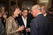 RACHEL BILLINGTON; COUNT ADAM ZAMOYSKI; THE PRINCE OF WALES, Everyman 25th Anniversary party, Spencer House. St. James' Place. London. SW1. 26 October 2016