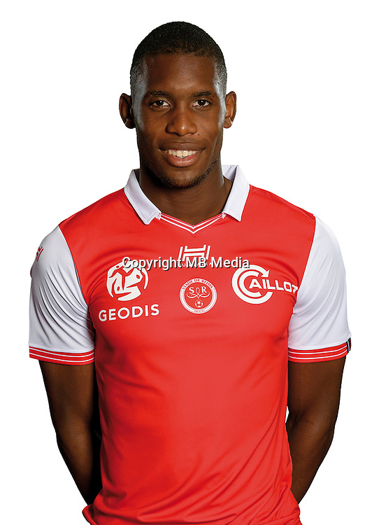 Theoson Jordan Siebatcheu of Reims during the photocall of Reims for new season of Ligue 2 on September 29th 2016 in Reims<br /> Photo : Stade de Reims / Icon Sport