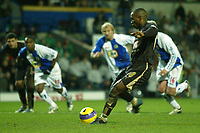 Photo: Aidan Ellis.<br /> Blackburn Rovers v Tottenham Hotspur. The Barclays Premiership. 19/11/2006.<br /> Spurs  Jermain Defoe scores the eqauliser from the spot
