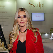 London, UK. 25 February, 2018. Dawn Ward attends the Professional Beauty London 2015 showcases future of the industry. Beauty professionals of all types gathered at the Excel London in London to learn about the newest trends in the industry.