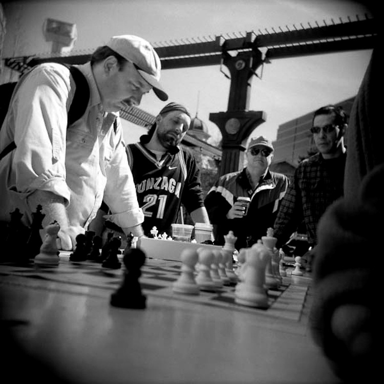 chess, public square, game, public chess