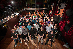 Group picture before the seminar. IKMS 'In The Club' seminar with KMG Global Team Instructor and Expert Level 5, Tommy Blom, at the Buff Club in Glasgow's City Centre. Bringing Krav Maga training out with the confines of the gym into a real nightclub/bar.<br /> &copy; Michael Schofield.