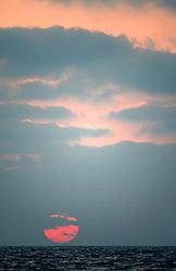 ISRAEL MEDITERRANEAN SEA 12JUL10 - Sunset over the Eastern Mediterranean Sea, off the coast of Israel...jre/Photo by Jiri Rezac