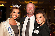 John North of the Better Business Bureau (center) with Miss Ohio 2011 Ellen Bryan (left) and Miss Ohio 2010 Becky Minger during the Better Business Bureau's Eclipse Integrity Awards dinner at the Ponitz Center at Sinclair Community College in downtown Dayton, Tuesday, May 8, 2012.