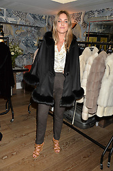 DAISY KNATCHBULL at the Mila Furs Trunk Show held at the Haymarket Hotel, 1 Suffolk Place, London on 1st November 2016.