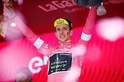 Podium Simon Yates (GBR - Mitchelton - Scott) pink leader jersey during the 101th Tour of Italy, Giro d'Italia 2018, stage 16, Trento - Rovereto 34.5 km on May 22, 2018 in Italy - Photo Luca Bettini / BettiniPhoto / ProSportsImages / DPPI