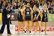 New Zealand time out<br /> Netball - Australia vs New Zealand<br /> 2007 International Test Series<br /> Vodafone Arena, Melbourne Australia<br /> Saturday 21 July 2007<br /> © Sport the library / Jeff Crow