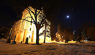 Above the Saint Boniface Cathedral, a full moon becomes a blood moon as Canada experiences a full lunar eclipse, early Tuesday, April 15, 2014. (TREVOR HAGAN/WINNIPEG FREE PRESS)