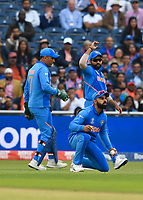 Cricket - 2019 ICC Cricket World Cup - 1st Semi-final - India vs New Zealand<br /> <br /> India's Virat Kohli encouraged as the ball beats the bat at Old Trafford.<br /> <br /> COLORSPORT/ASHLEY WESTERN