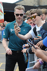 © Licensed to London News Pictures. 01/07/2017. London, UK, Boyzone band member Ronan Keating takes time for a selfie for a supporter during The 2017 Celebrity Cup golf tournament at the Celtic Manor Resort, Newport, South Wales. Photo credit: Jeff Thomas/LNP