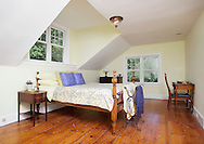 A bedroom in the remodeled farmhouse owned by  Anne-Marie Neville-Volpe and her husband Anthony Volpe in  in Hamptonburgh on Aug. 19, 2010.