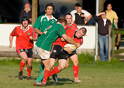 Rugby match between National team of Slovenia (green) and Norway (red) at EUROPEAN NATIONS CUP 2008-2010 of B group 3rd division, on April 25, 2008, in Stanezice, Ljubljana, Slovenia. Slovenia won 14:10. (Photo by Vid Ponikvar / Sportida)