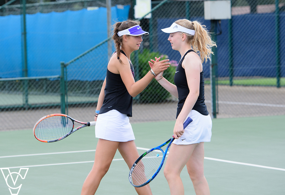 Aberdare Cup - Queenswood School [1]<br /> <br /> Team Tennis Schools National Championships Finals 2017 held at Nottingham Tennis Centre.  <br /> <br /> Picture: Chris Vaughan Photography for the LTA<br /> Date: July 14, 2017