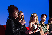Tish Ciravolo, President and Founder, Daisy Rock Girl Guitars, Katherine Twells, AVP of Customer Marketing for Wetern US, Coca-Cola, Halle Stanford, EVP Children's Programming, Jim Henson Company, and Mandi Line, Costume Designer
