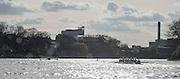 London, Great Britain, The Newton Women's Boat Race, Oxford left, Mortlake brewey Skyline. Championship Course.  River Thames. Putney to Mortlake. ENGLAND. <br /> <br /> 17:07:00  Saturday  11/04/2015<br /> <br /> [Mandatory Credit; Peter Spurrier/Intersport-images]<br /> <br /> OUWBC Crew: <br /> Maxie SCHESKE, Anastasia CHITTY, Shelley PEARSON, Lauren KEDAR, Maddy BADCOTT, Emily REYNOLDS, Nadine GRAEDEL IBERG, Caryn DAVIES and Cox Jennifer EHR