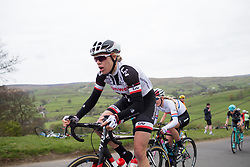 Ellen van Dijk (NED) of Team Sunweb climbs up the Cote de Lofthouse during the Tour de Yorkshire - a 122.5 km road race, between Tadcaster and Harrogate on April 29, 2017, in Yorkshire, United Kingdom.
