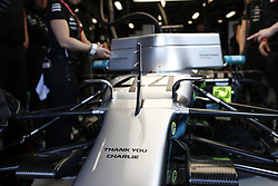 March 16, 2019 - Melbourne, Australia - Motorsports: FIA Formula One World Championship 2019, Grand Prix of Australia, ..Mercedes AMG Petronas Motorsport pay tribute to Charlie Whiting  (Credit Image: © Hoch Zwei via ZUMA Wire)