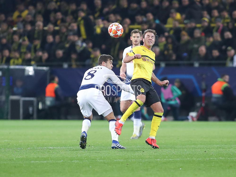 Mario Götze of Borussia Dortmund battles on the ball during the Champions League round of 16, leg 2 of 2 match between Borussia Dortmund and Tottenham Hotspur at Signal Iduna Park, Dortmund, Germany on 5 March 2019.