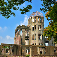 A-bomb Dome at Peace Memorial Park in Hiroshima, Japan<br />