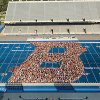 B on the Blue, Stadium, bronco welcome, John Kelly photo