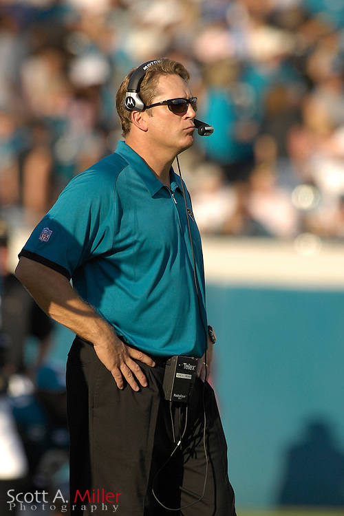 Dec. 9, 2007; Jacksonville, FL, USA;  Jacksonville Jaguars coach Jack Del Rio during his team's game against the Carolina Panthers at Jacksonville Municipal Stadium.                        ©2007 Scott A. Miller..©2007 Scott A. Miller