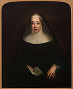 Portrait of Lady Mary Percy, 1570-1642, founder of the Irish Benedictine nuns, in the Community Room, used to display items from the history of the Benedictine order, in Kylemore Castle, built in the 19th century by Mitchell and Margaret Henry and converted to a Benedictine monastery, Kylemore Abbey, in 1920, in Connemara, County Galway, Ireland. Picture by Manuel Cohen