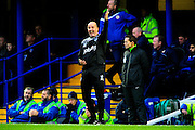 Portsmouth manager Paul Cook during the The FA Cup match between Portsmouth and Accrington Stanley at Fratton Park, Portsmouth, England on 5 December 2015. Photo by Graham Hunt.