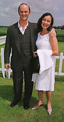 Actor TIM McINNERNY and MISS ANNIE GOSLING, at a polo match in Berkshire on 13th June 1999.MTD 38