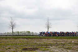 Trek Segafredo, Team Virtu Cycling and WNT Rotor Pro Cycling lead the bunch on lap one at Healthy Ageing Tour 2019 - Stage 3, a 124 km road race starting and finishing in Musselkanaal, Netherlands on April 12, 2019. Photo by Sean Robinson/velofocus.com
