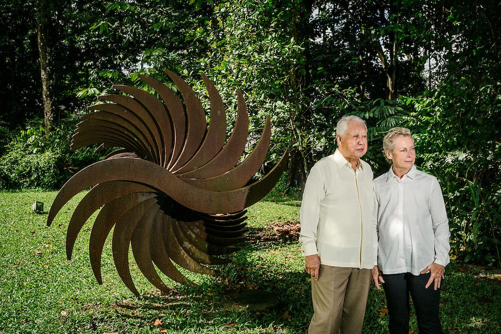 Founders of Rimbun Dahan, Hijjas and Angela Hijjas.