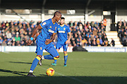 AFC Wimbledon striker Tom Elliott (9) during the EFL Sky Bet League 1 match between AFC Wimbledon and Millwall at the Cherry Red Records Stadium, Kingston, England on 2 January 2017. Photo by Stuart Butcher.