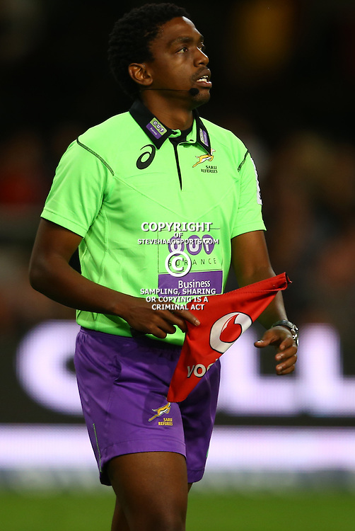 DURBAN, SOUTH AFRICA - MAY 21: Assistant Referee Archie Sehlako during the Super Rugby match between Cell C Sharks and Southern Kings at Growthpoint Kings Park on May 21, 2016 in Durban, South Africa. (Photo by Steve Haag/Gallo Images)