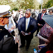 Mayor Sly James at the dedication ceremony on Sept. 28 2011 for the new Korean War Memorial in Washington Square Park in Kansas City, MO.