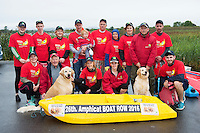 The Cast and crew who took part in the 26th amphicat row in aid of  The Irish Guide Dogs for the Blind, on the Corrib <br /> . Photo: xposure.