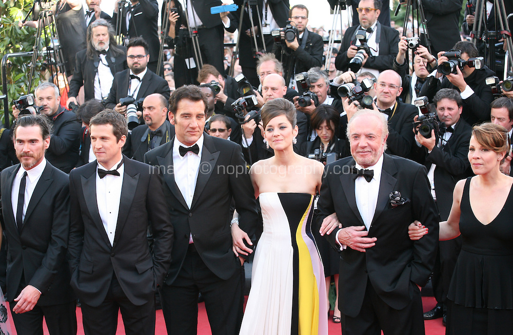 The cast and director at the Blood Ties film gala screening at the Cannes Film Festival Monday 20th May 2013