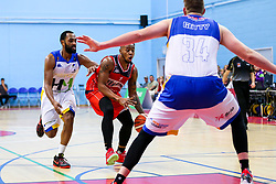 Panos Mayindombe of Bristol Flyers - Rogan/JMP - 13/10/2017 - BASKETBALL - SGS Wise Arena - Bristol, England. - Bristol Flyers v Cheshire Pheonix - BBL Cup.
