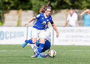 Michelle Hinnigan (Everton Ladies) in action during the FA Women's Super League match between Durham Women FC and Everton Ladies at New Ferens Park, Belmont, United Kingdom on 30 August 2015. Photo by George Ledger.