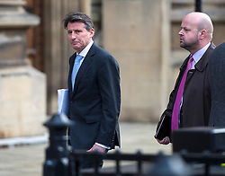 © Licensed to London News Pictures. 02/12/2015. London, UK. Lord SEBASTIAN COE (left) arriving at Houses of Parliament in London to give evidence before a Commons Culture Media and Sport committee on blood-doping allegations. Lord Coe, who is president of the IAAF (International Association of Athletics Federations) has come under pressure following allegations of widespread doping in athletics.   Photo credit: Ben Cawthra/LNP