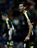 Photo: Paul Greenwood/Sportsbeat Images.<br /> Preston North End v Cardiff City. Coca Cola Championship. 29/12/2007.<br /> Reaction from Cardiff's Joe Ledley who scored the winning goal.