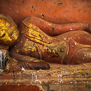 BAGAN, MYANMAR--Dating back to the 12th century, Dhammayan Gyi Phaya Temple (also known as Dhammayan-gyi) is the largest temple in Bagan. It has not received the same restoration attention as some of the other temples, and its dark inner halls are now home to hundreds of bats. Its tower has not been restored, making it unique among Bagan's larger temples.