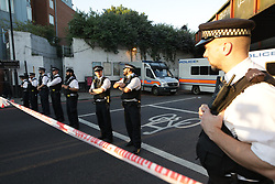 © Licensed to London News Pictures. 19/06/2017. London, UK. One man is dead and several inured after a car was driven in to people outside a Muslim welfare centre near to Finsbury Park mosque.  Photo credit: Joel Goodman/LNP