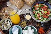 typisches Frühstück, Israel.|.typical breakfast, Israel.