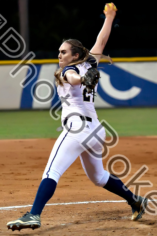 2018 February 09 - FIU's Megan Kugelmann (21). Florida International University softball fell to Hofstra, 5-0, at Felsberg Field, Miami, Florida. (Photo by: Alex J. Hernandez / photobokeh.com) This image is copyright by PhotoBokeh.com and may not be reproduced or retransmitted without express written consent of PhotoBokeh.com. ©2018 PhotoBokeh.com - All Rights Reserved
