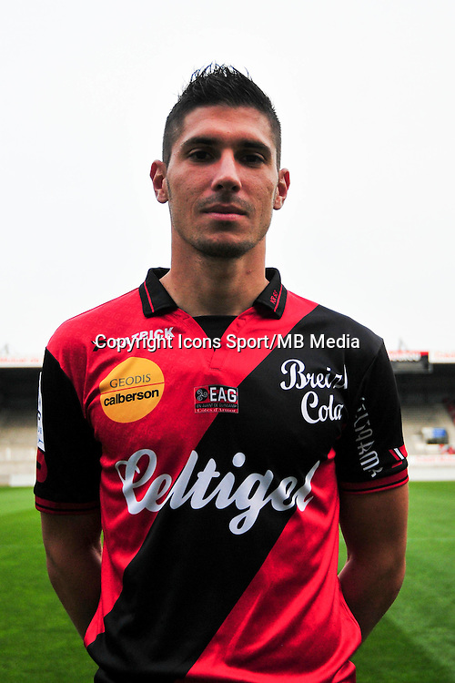 Jeremy PIED - 16.09.2014 - Photo officielle Guingamp - Ligue 1 2014/2015<br /> Photo : Philippe Le Brech / Icon Sport