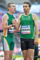 23/07/2017 : Paul Keogan (IRL), Charl Du Toit (RSA), Men's 400m, Final, at the 2017 World Para Athletics Championships, Olympic Stadium, London, United Kingdom