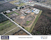 An aerial photo shows the Sterling High School campus in December 2014.