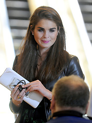 File picture, dated on May 31, 2016, of Hope Hicks during an US Republican presidential candidate Donald Trump's press conference at the Trump Tower in New York City, NY, USA. 27-Year-Old Former Model, Hope Hicks is the campaign communications manager for Donald Trump. Hope Hicks, one of President Trump's longest-serving advisers, is to step down as White House communications director. The 29-year-old former model has been by Mr Trump's side for years.The news came a day after she testified in front of the House Intelligence Committee, but White House sources said this was not the reason. Photo by Dennis Van Tine/ABACAPRESS.COM